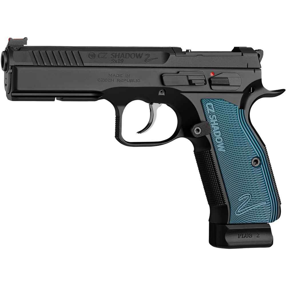 Shadow II Optical Ready 9mm Luger in Schwarz/Blau - CZ